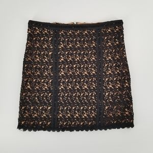 Kendall Kylie Lace Crochet Mini Skirt